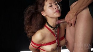 Brutal Japanese Face Fuck Itou Mayu Japanese girl is tied up and used as a throat fuck toy